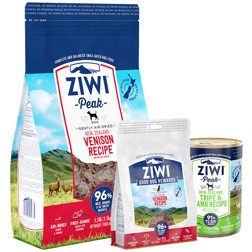 25% OFF + FREE TREATS: Ziwi Peak® Premium Air-Dried Venison Dry Dog Food (3 sizes)