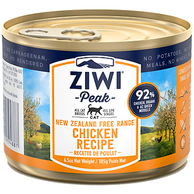 20% OFF + FREE POUCH: Ziwi Peak® Premium Chicken Canned Cat Food (185g)