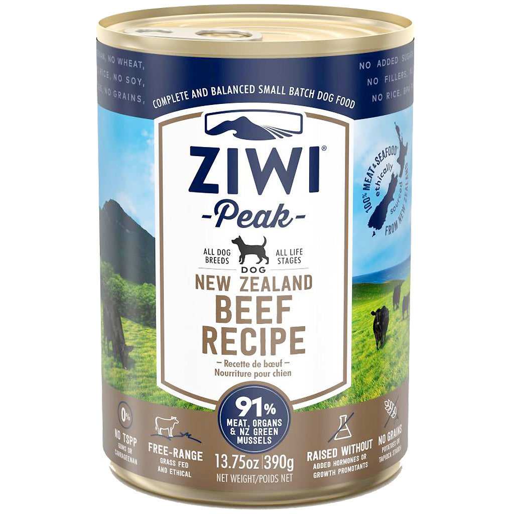 25% OFF + FREE TREATS: Ziwi Peak® Premium Beef Canned Dog Food 390g (1/6/12pcs)