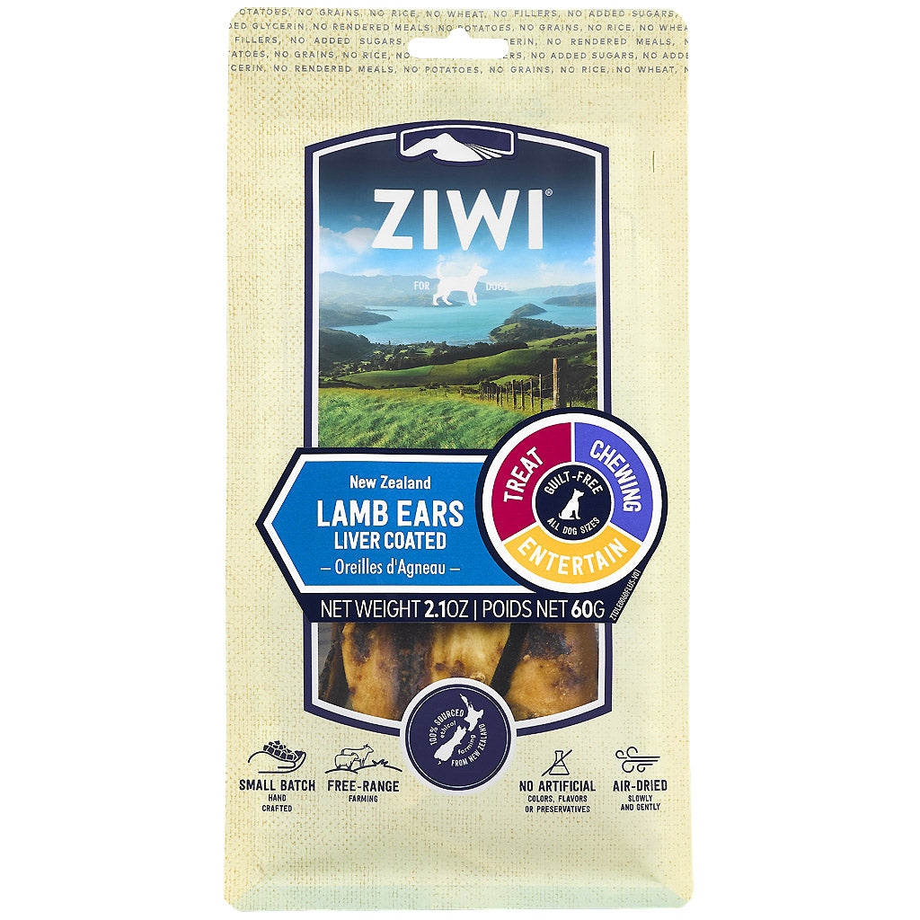 25% OFF: Ziwi Peak® Premium Lamb Ears Oral Health Dog Treats (60g)