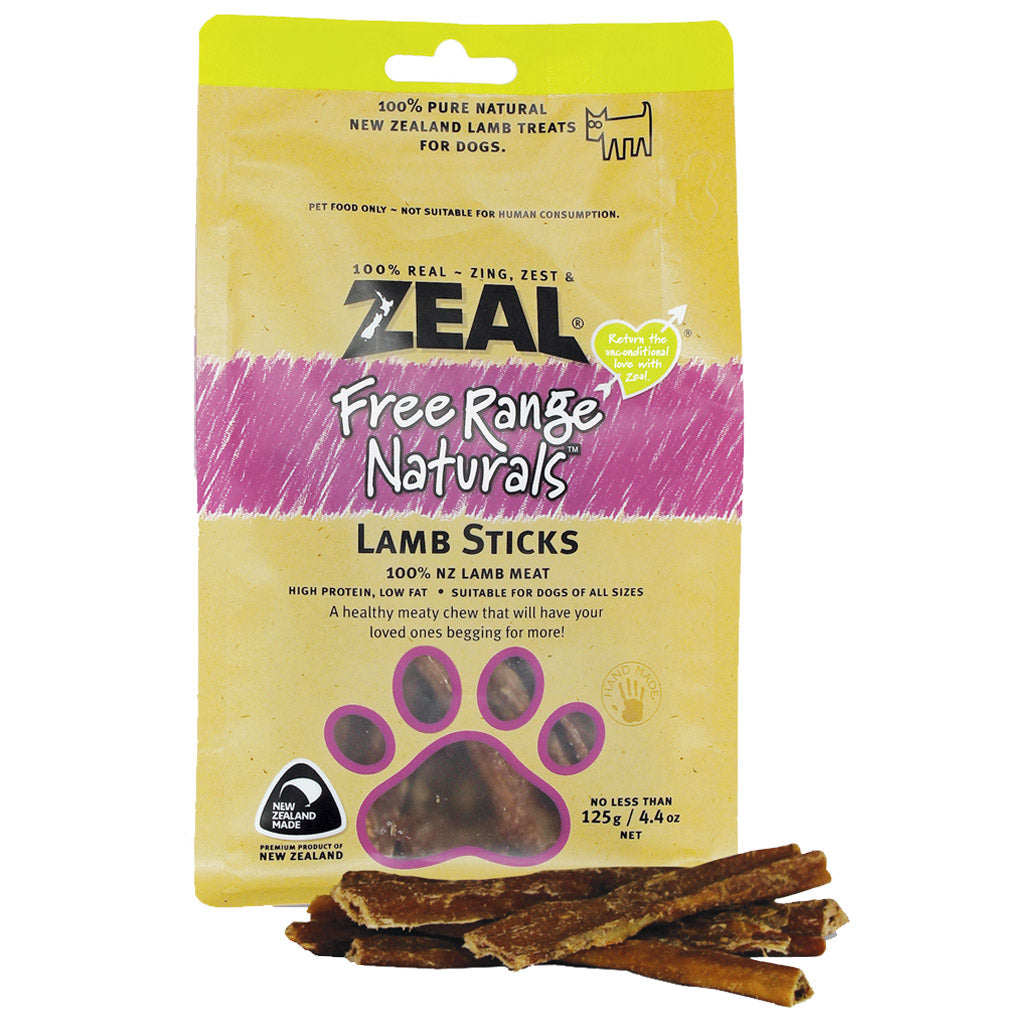 BUY 2 FREE 1 [SAVER]: Zeal® Free Range Lamb Stick Dog Treats (125g)