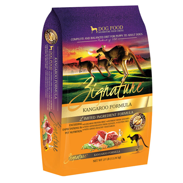 35% OFF: Zignature® Kangaroo Grain-Free Dry Dog Food (3 sizes)