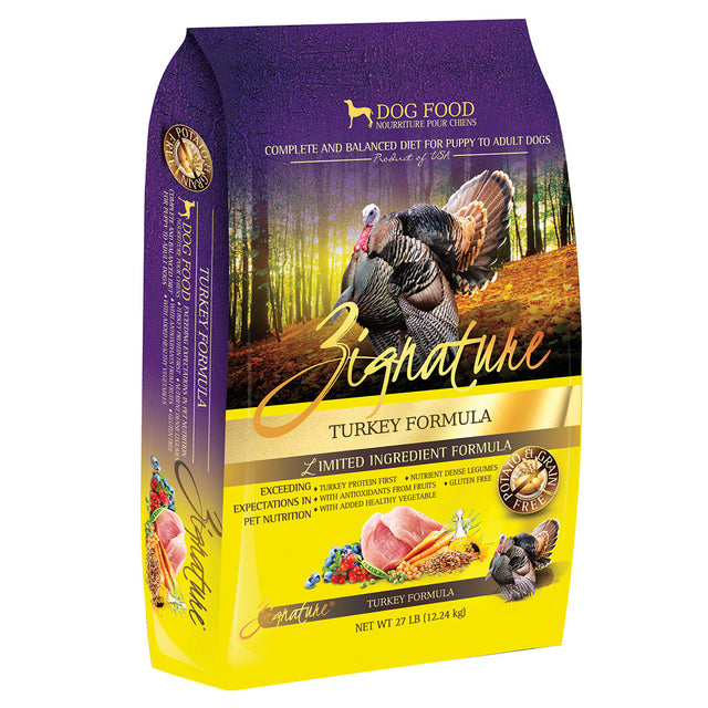 40% OFF: Zignature® Turkey Formula Grain-Free Dry Dog Food (3 sizes)