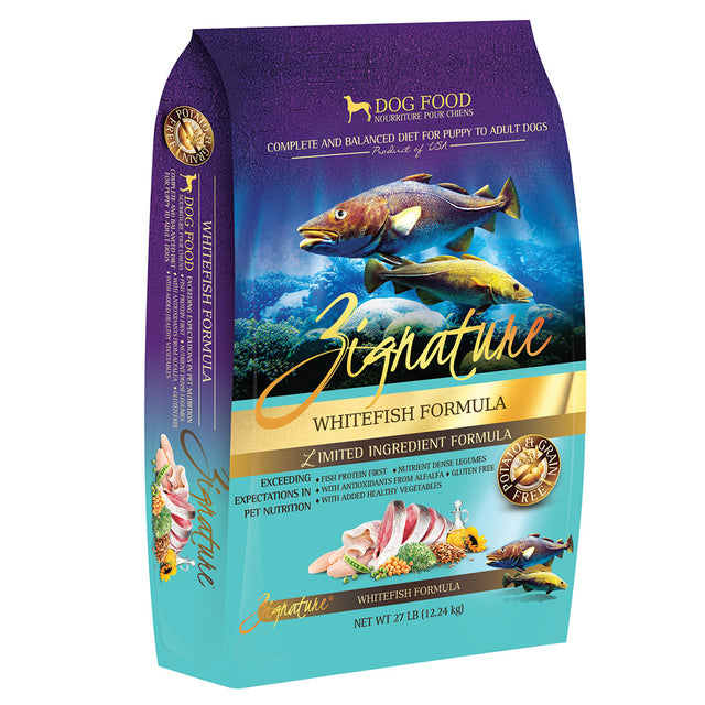 35% OFF: Zignature® Whitefish Formula Grain-Free Dry Dog Food (3 sizes)