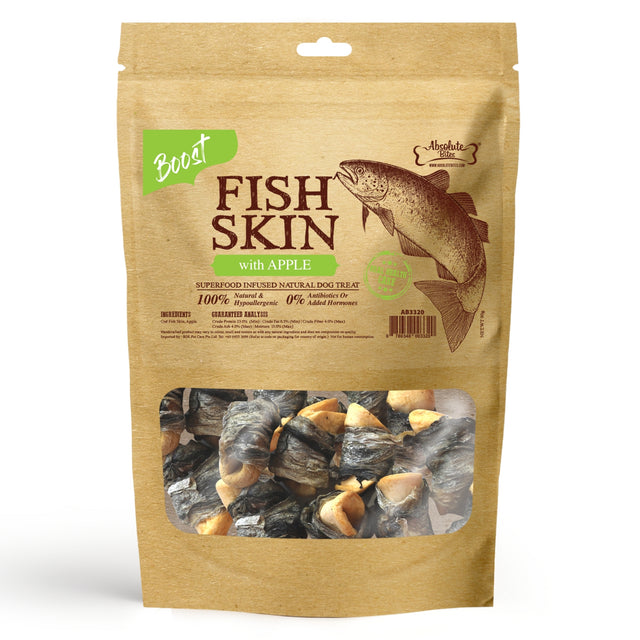33% OFF [NEW]: Absolute Bites® Air-Dried Fish Skin with Apple Dog Treats (2 sizes)