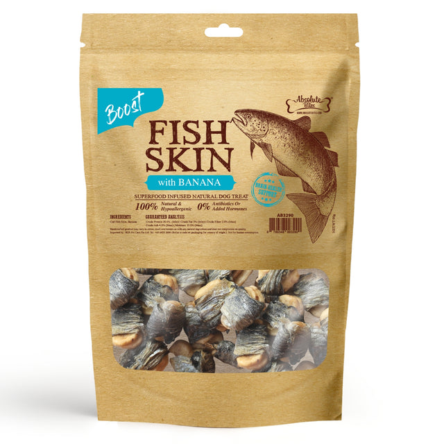 33% OFF [NEW]: Absolute Bites® Air-Dried Fish Skin with Banana Dog Treats (2 sizes)