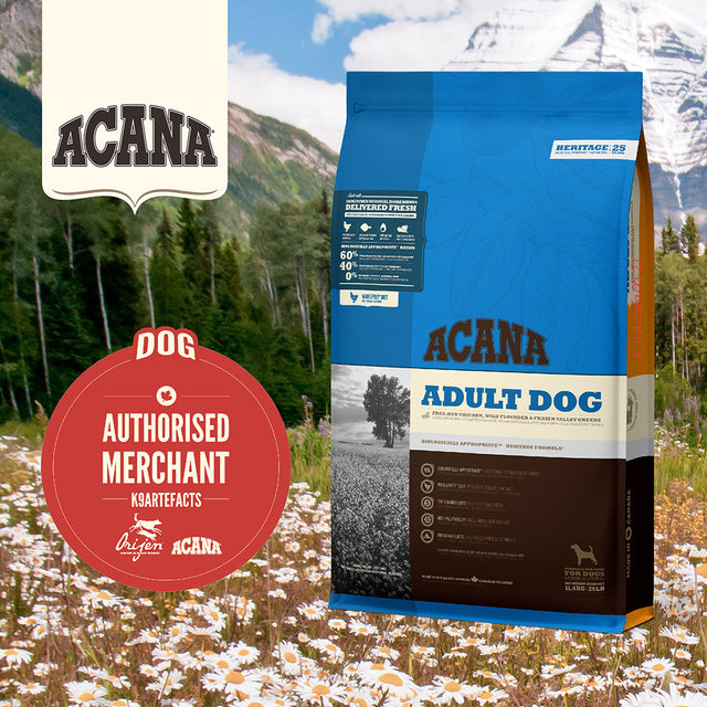 30% OFF + FRE GIFT: ACANA® Heritage Adult Dry Dog Food (3 sizes)