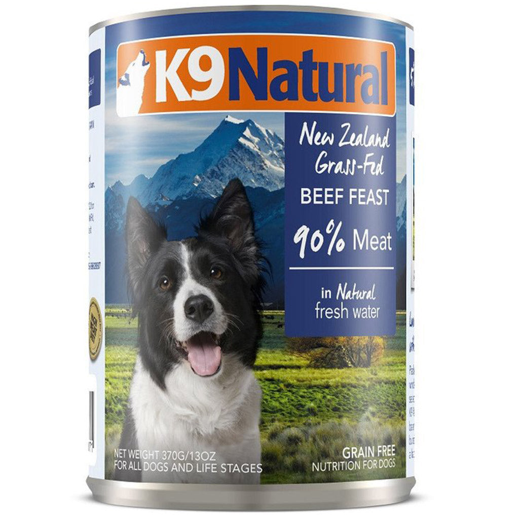 25% OFF: K9 Natural® Beef Canned Dog Food 370g (6/12/24pcs)