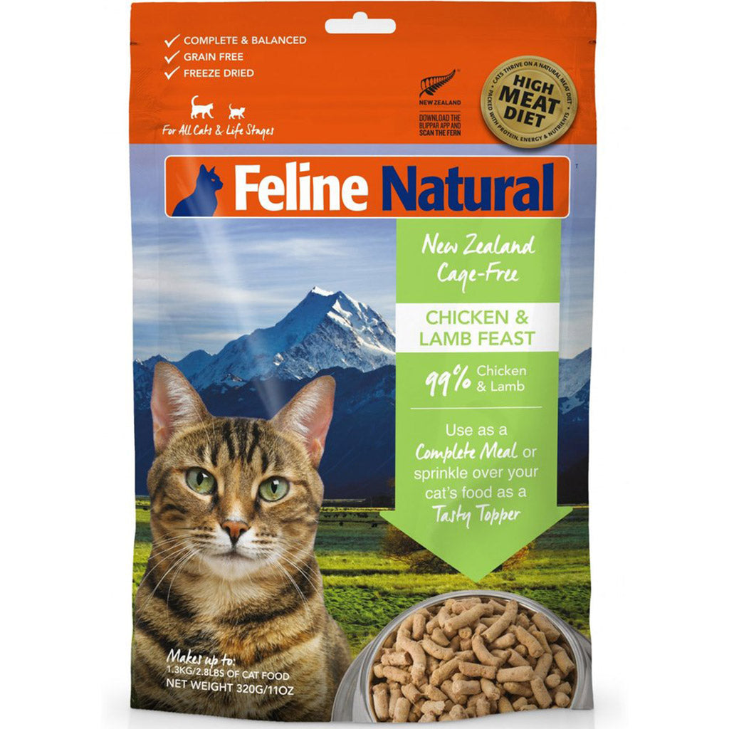 20% OFF: Feline Natural® Freeze-Dried Chicken & Lamb Dry Cat Food (2 sizes)