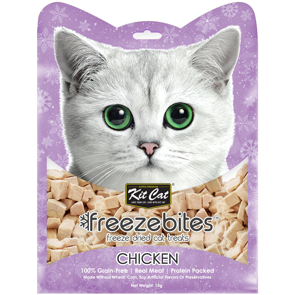 3 FOR $10 [EXPO20]: Kit Cat® Freeze Bites Cat Treats - Chicken (15g)