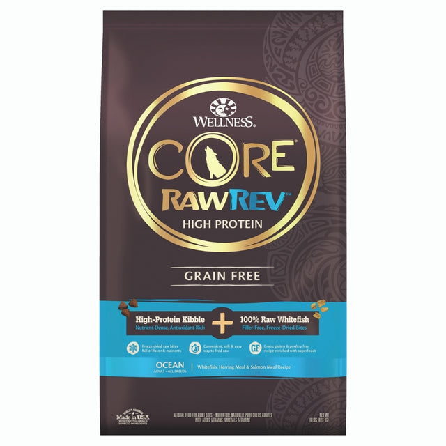 40% OFF [PETSALE]: Wellness® CORE RawRev Ocean with Freeze-Dried Turkey Grain-Free Dry Dog Food (2 sizes)
