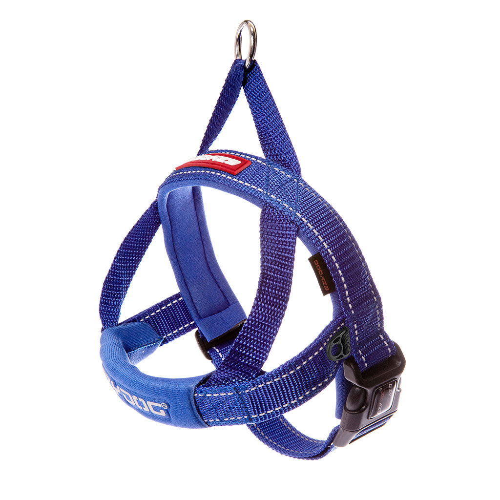 15% OFF: EzyDog ® Quick Fit Dog Harness – Blue (6 sizes)