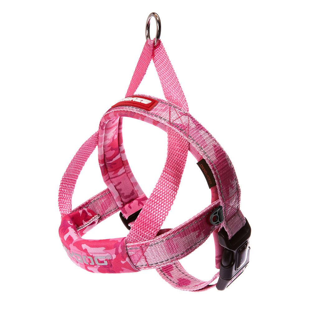 10% OFF [NEW]: EzyDog® Quick Fit Dog Harness – Pink Camo (6 sizes)