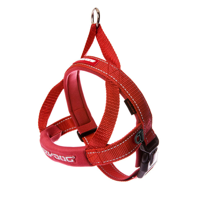 10% OFF [NEW]: EzyDog® Quick Fit Dog Harness – Red (6 sizes)