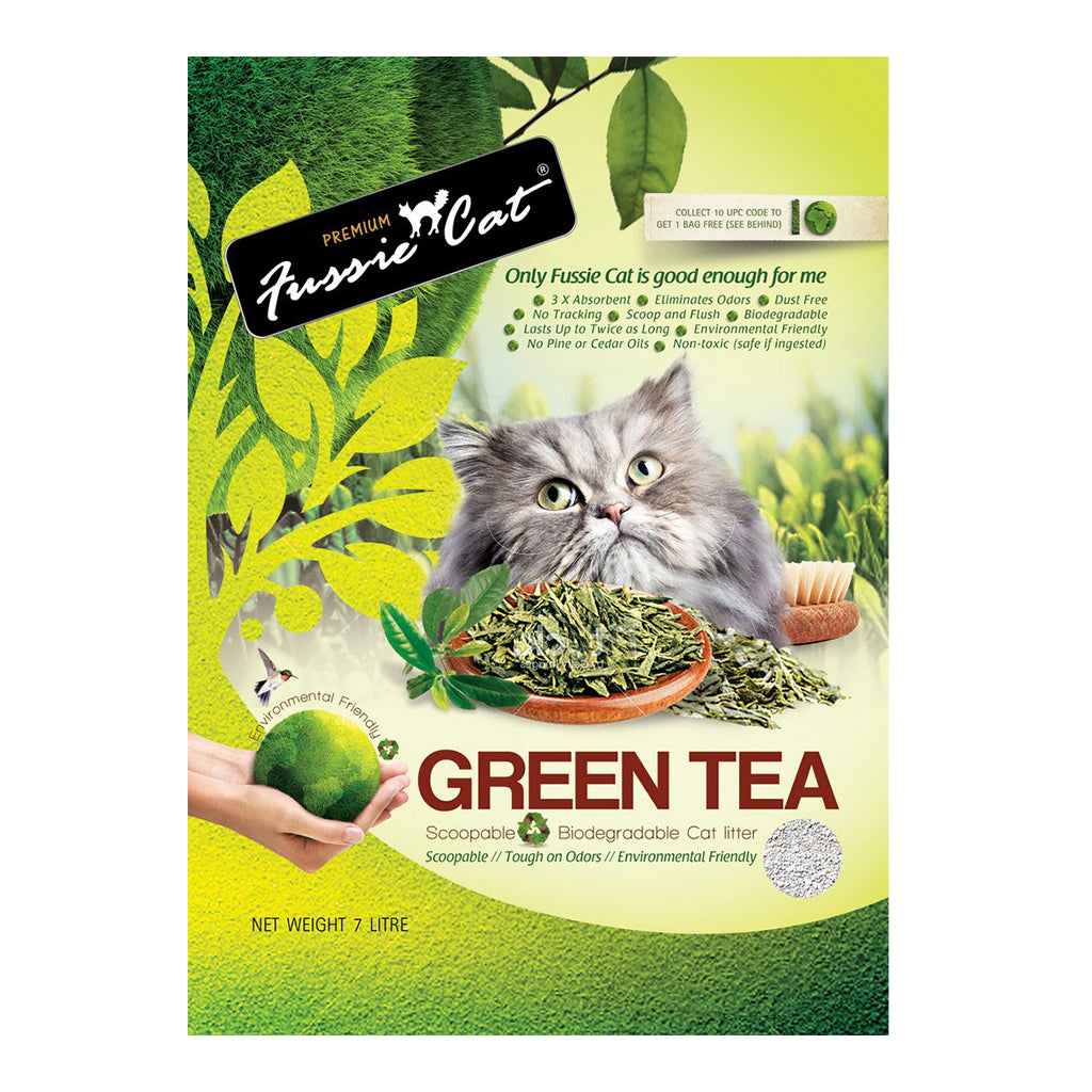 20% OFF: Fussie Cat® Natural Green Tea Paper Cat Litter (7L)