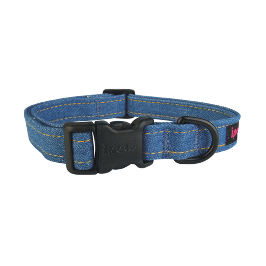 60% OFF [BFCM]: Ipet Mini® Denim Plus (Dark Denim) Dog & Cat Collar (3 sizes)