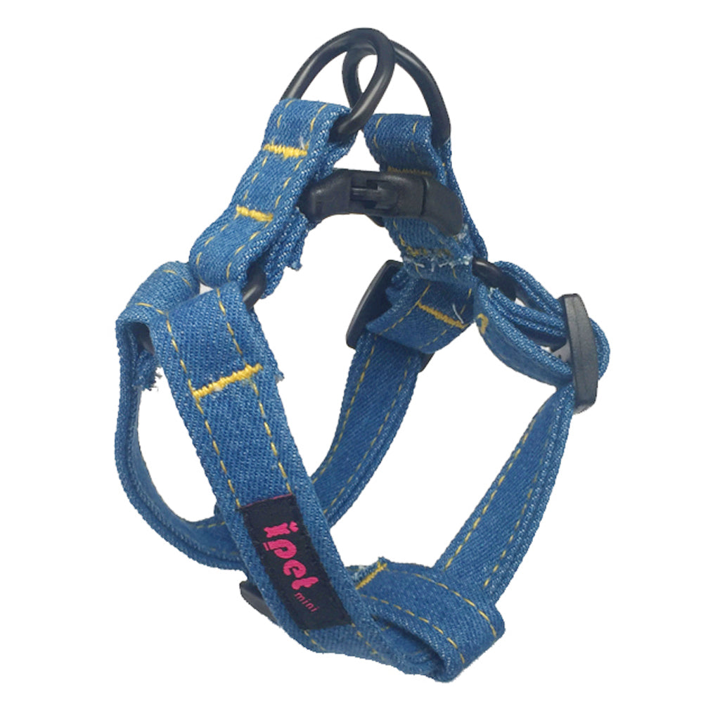 60% OFF [GSS20]: Ipet Mini® Dark Denim Harness + Leash Set for Dogs & Cats (3 sizes)