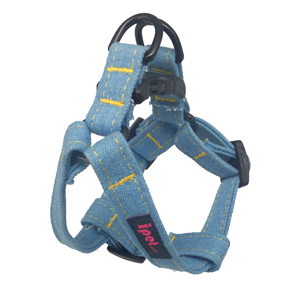 60% OFF [EXPO20]: Ipet Mini® Denim Plus (Light Denim) Harness for Dogs & Cats (3 sizes)