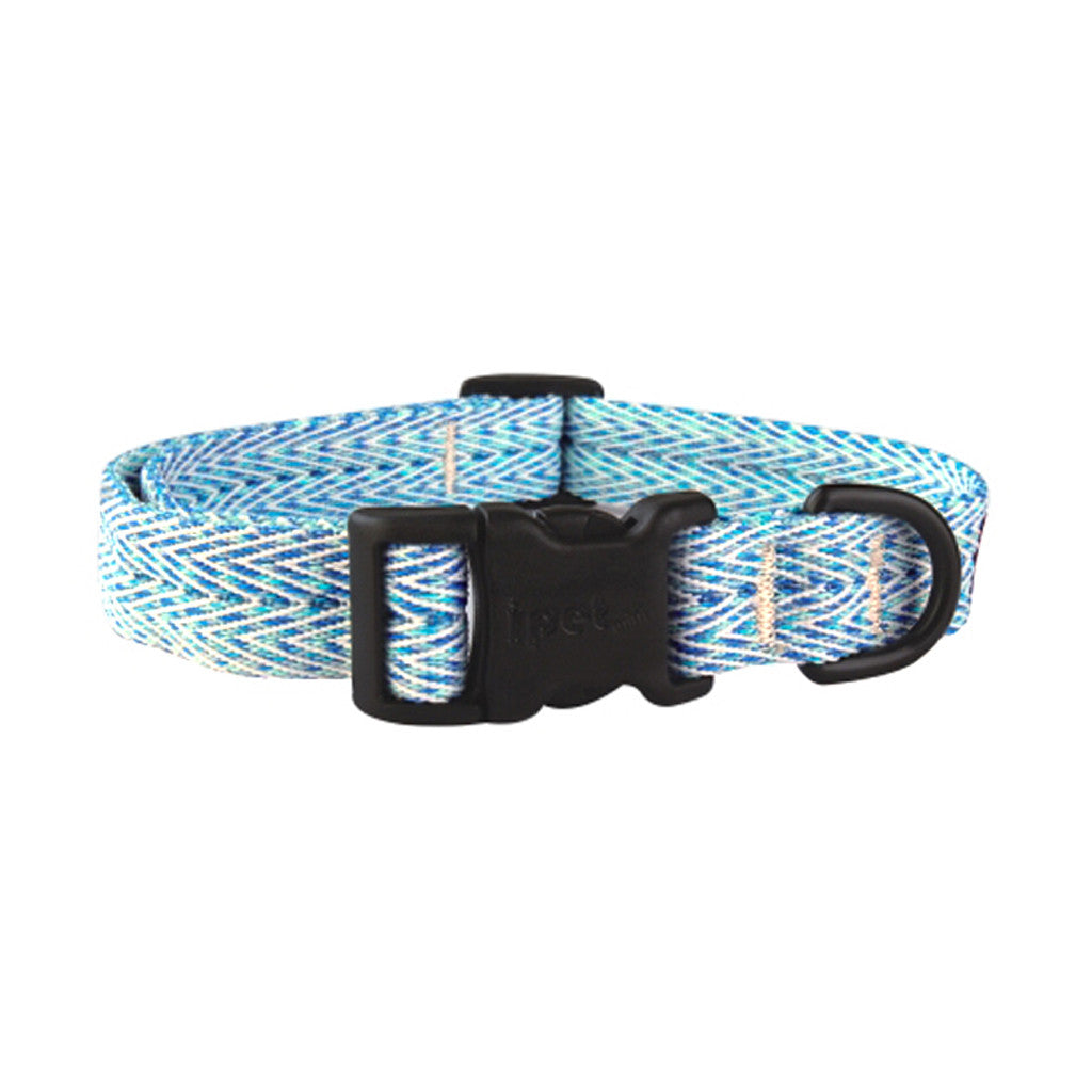 40% OFF: Ipet Mini® Herringbone Collection Dog & Cat Collar (Blue & White)