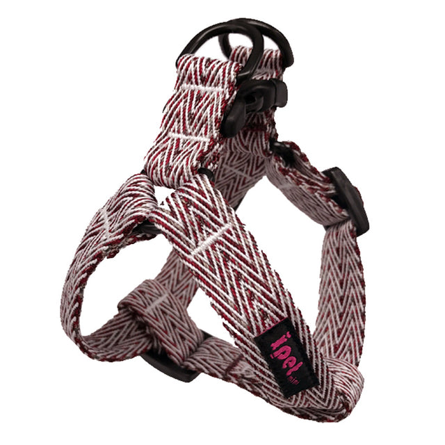 40% OFF: Ipet Mini® Herringbone Collection Dog Harness (Red & White)