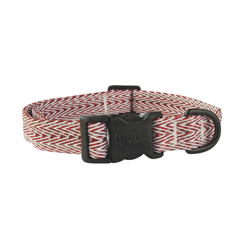 25% OFF: Ipet Mini® Herringbone Collection Dog & Cat Collar (Red & White)