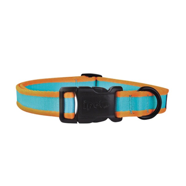 40% OFF: Ipet Mini® Contrast Collection Dog & Cat Collar - Turquoise & Orange (3 sizes)
