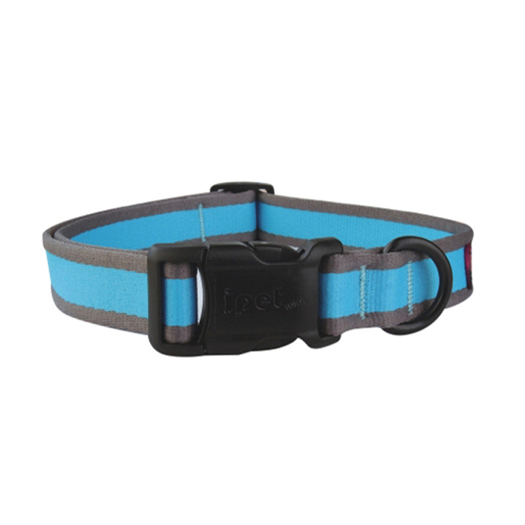 40% OFF: Ipet Mini® Contrast Collection Dog & Cat Collar - Turquoise & Grey (3 sizes)