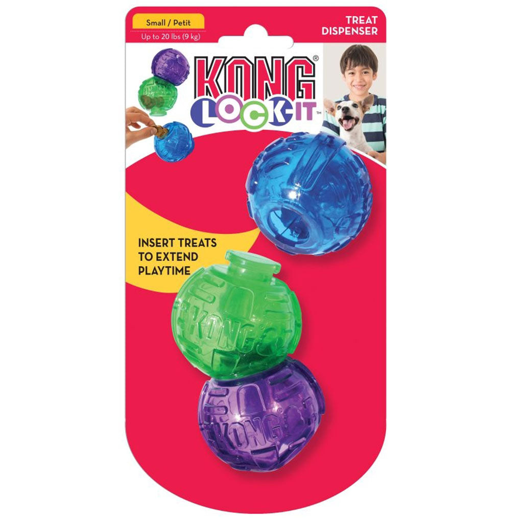 20% OFF [NEW]  KONG® Lock-It 3-Pk Dog Toy (2 sizes)