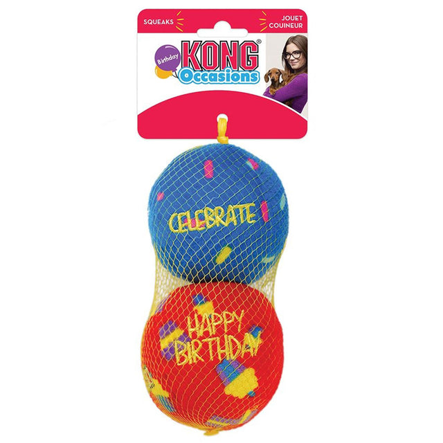15% OFF [NEW] KONG® Occasions Birthday Ball 2 Pk Dog Toy (3 sizes)