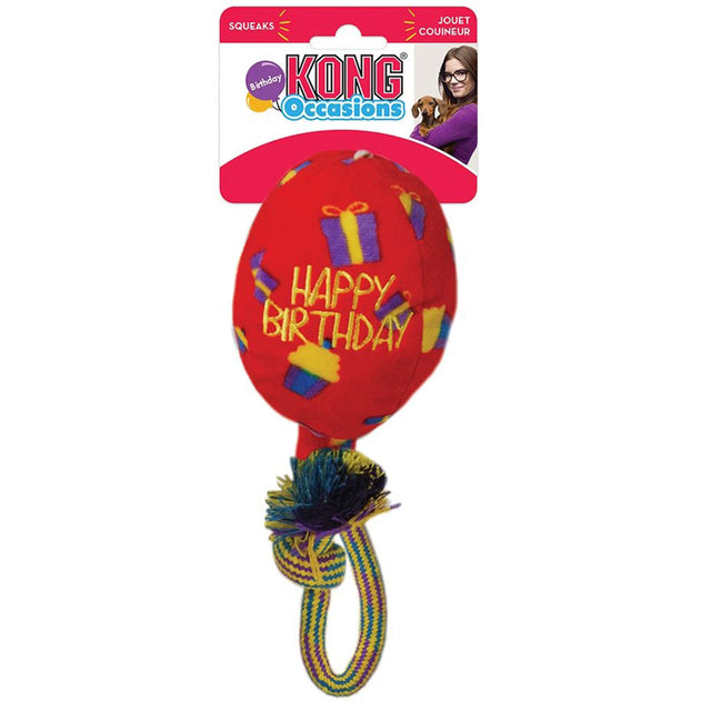 15 % OFF [NEW] KONG® Occasions Birthday Balloon Dog Toy – Red (3 sizes)