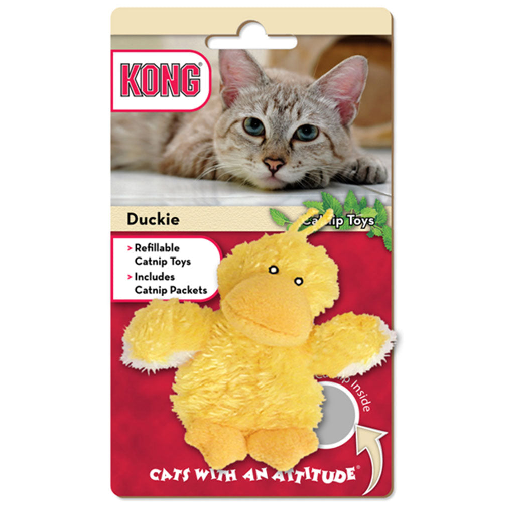 20% OFF [NEW]: KONG® Refillable Catnip Duckie Cat Toy
