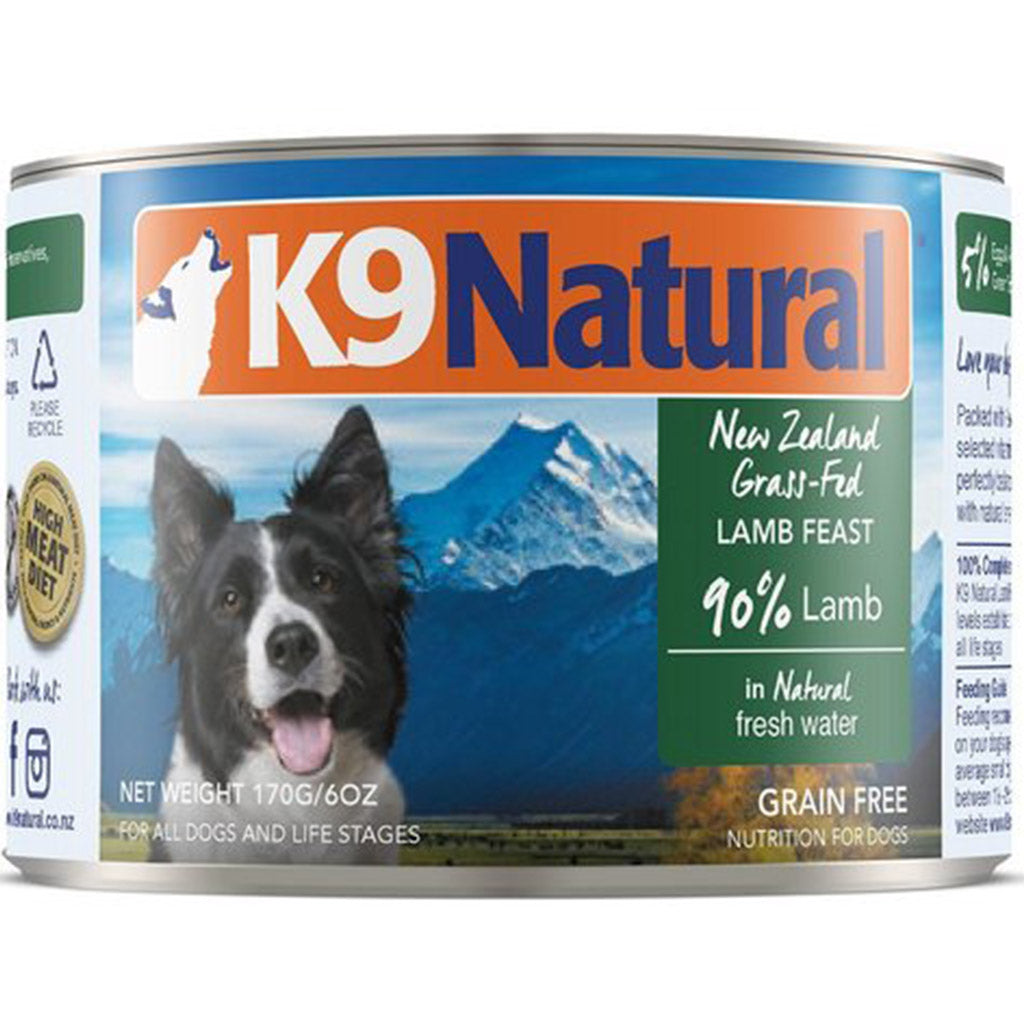 25% OFF: K9 Natural® Lamb Canned Dog Food 170g (6/12/24pcs)