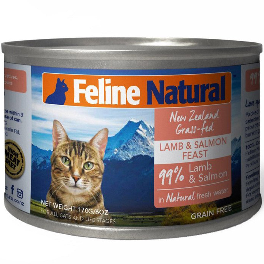20% OFF: Feline Natural® Lamb & Salmon Canned Cat Food 170g (6/12/24pcs)