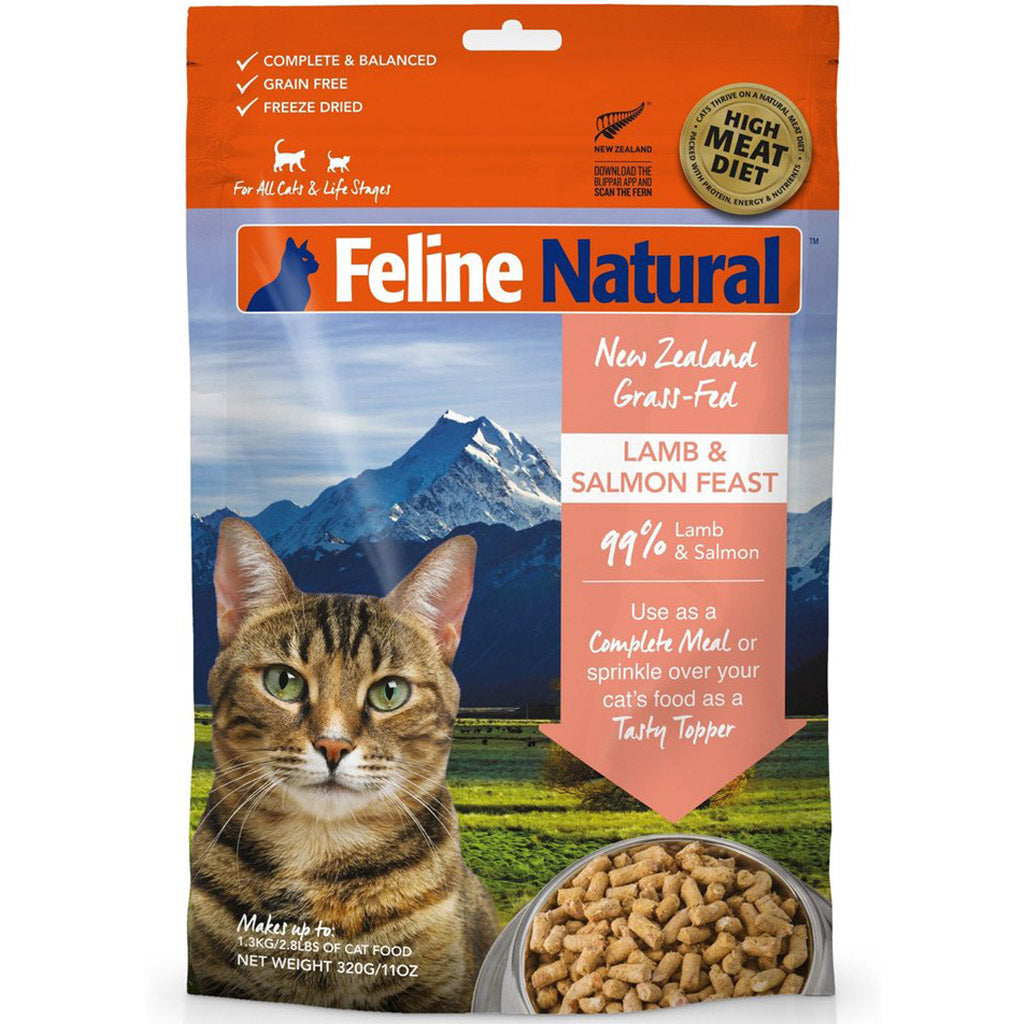 20% OFF: Feline Natural® Freeze-Dried Lamb & Salmon Dry Cat Food (2 sizes)