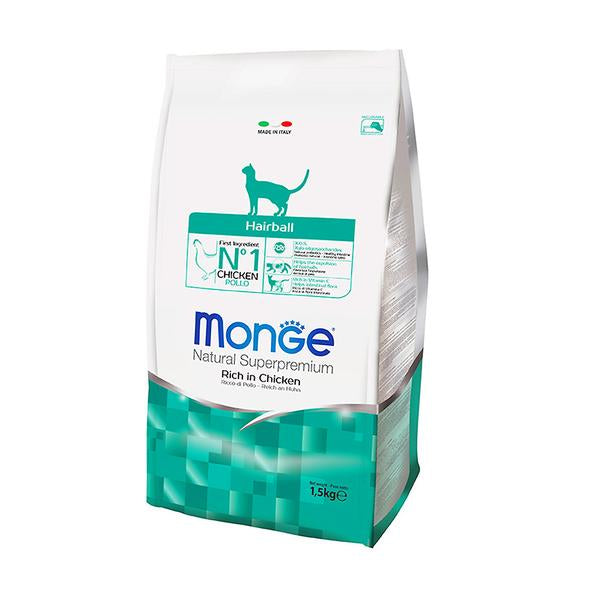 45% OFF: Monge® Adult Hairball Dry Cat Food (1.5kg)