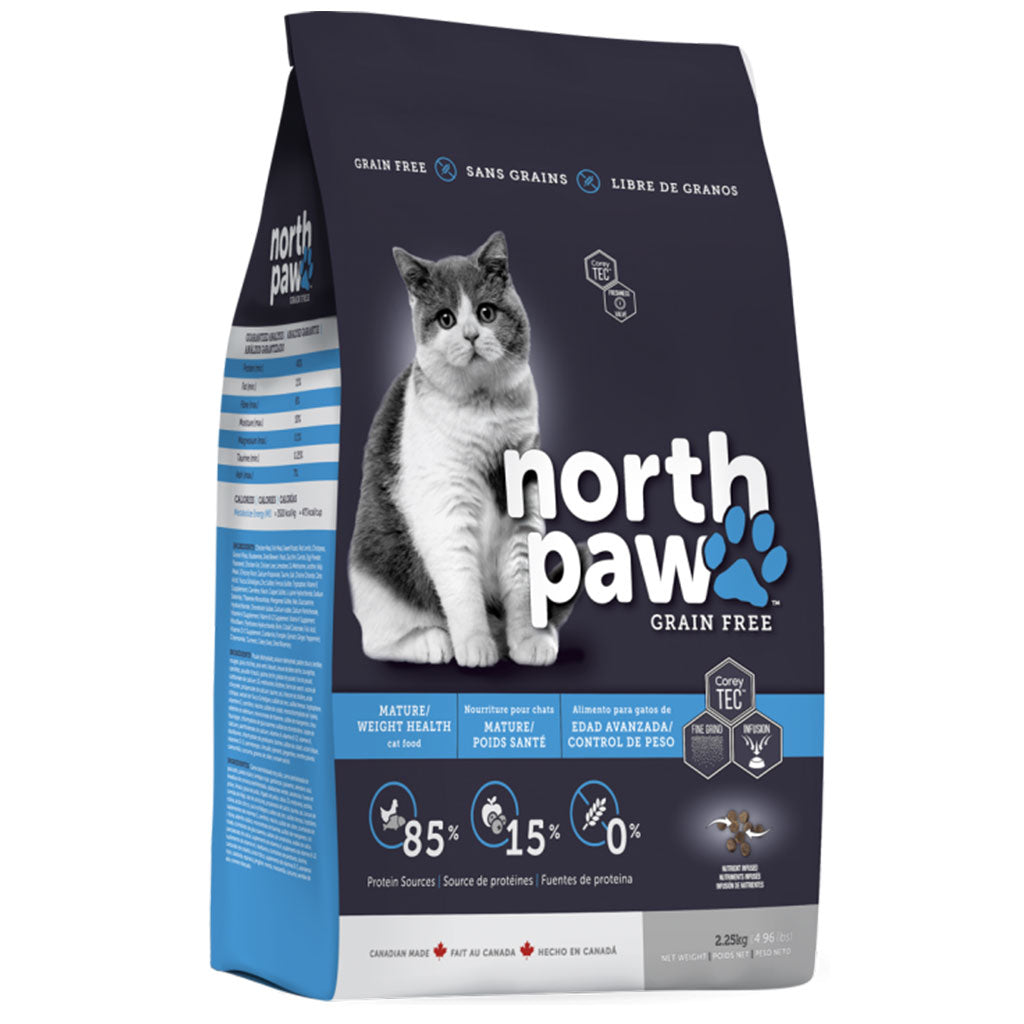 35% OFF [GSS20]: North Paw® Grain-Free Mature/Weight Health Dry Cat Food (2.3kg)