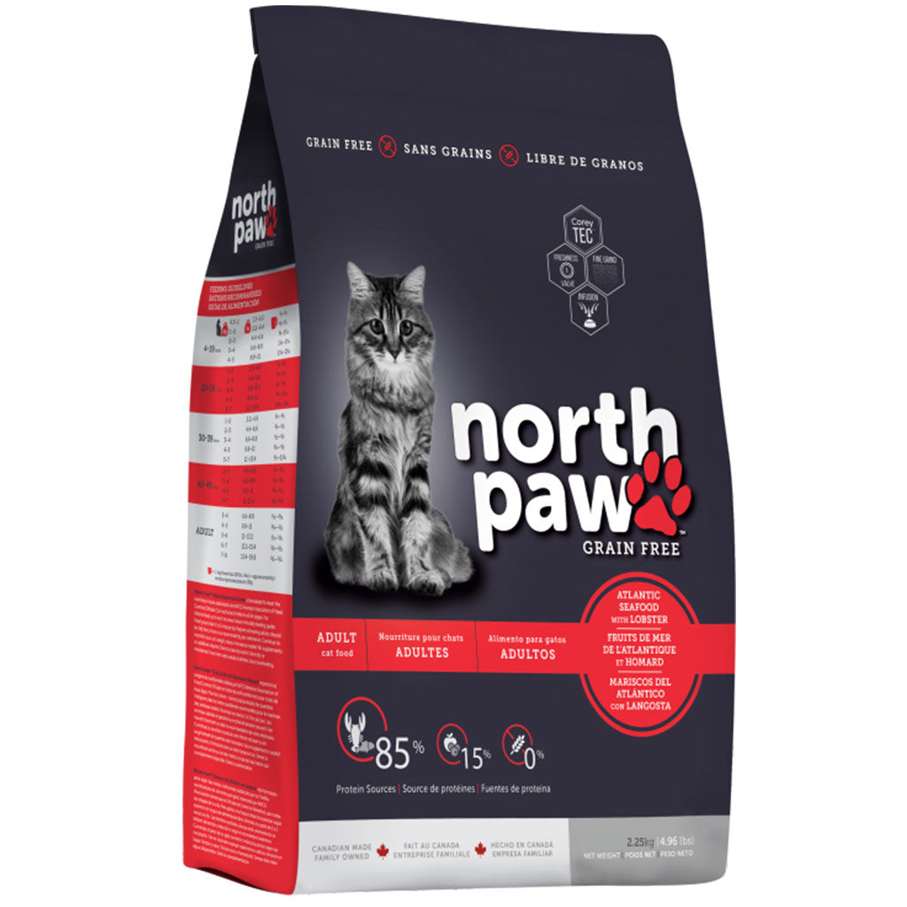 35% OFF [CNY21]: North Paw® Grain-Free Atlantic Seafood With Lobster Dry Cat Food (2 sizes)