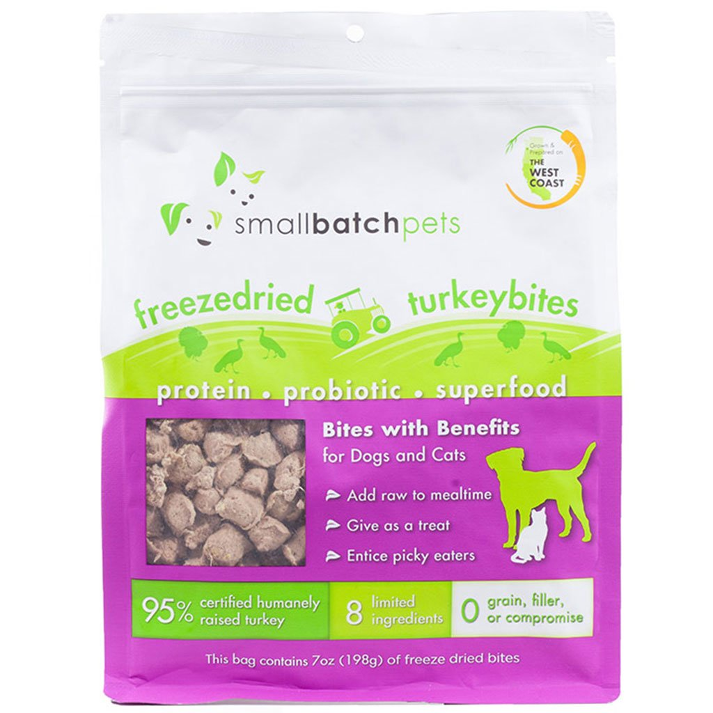 25% OFF [EXCLUSIVE]: Smallbatch® Freeze-Dried Turkey Bites Cat & Dog Food (198g)