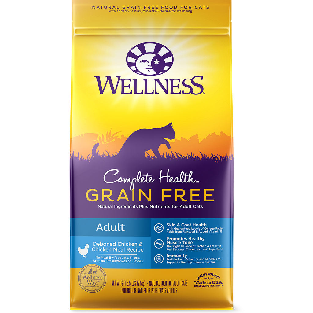 35% OFF [PETSALE]: Wellness® Complete Health Grain-Free Deboned Chicken & Chicken Meal Dry Cat Food (2 sizes)