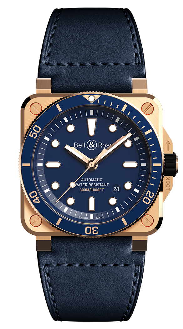 Bell & Ross 柏萊士 BR 03-92 DIVER BLUE BRONZE 青銅 BR0392-D-LU-BR/SCA