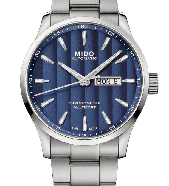 MIDO MULTIFORT CHRONOMETER 美度先鋒系列 M0384311104100 藍面