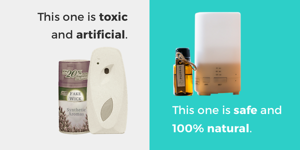 natural and safe diffusers vs artificial and toxic air fresheners