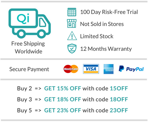 discover qi promotion discount and free shipping