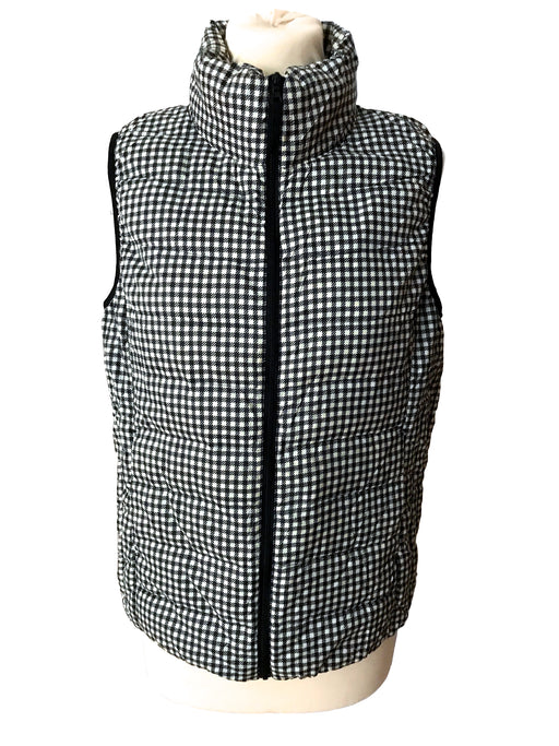 UNIQLO Gingham Check Plaid Ultra Light Down Packable Puffer Jacket Waistcoat Jilet Bodywarmer
