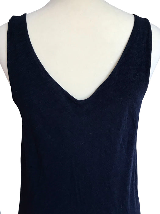 BNWT Midnight Blue V-Neck Sequinned Cotton Tank Top