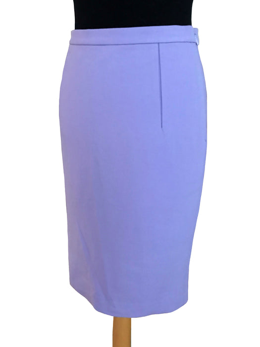 BNWT Diane Von Furstenberg DVF Lilac Jersey Pencil Below The Knee Skirt