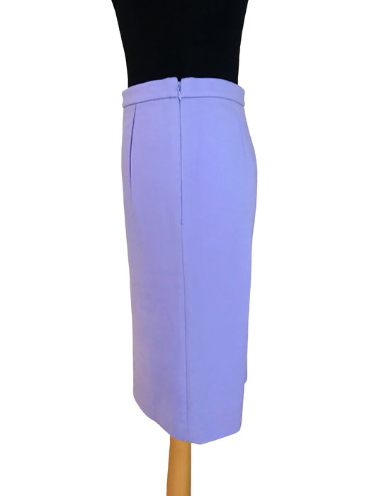 BNWT DVF Lilac Lavender Jersey Pencil Below The Knee Skirt