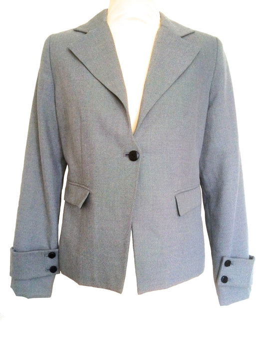 40s Style Vintage Gray Suit Jacket Structured Formal Traditional Professional Blazer Career Wear Buttoned