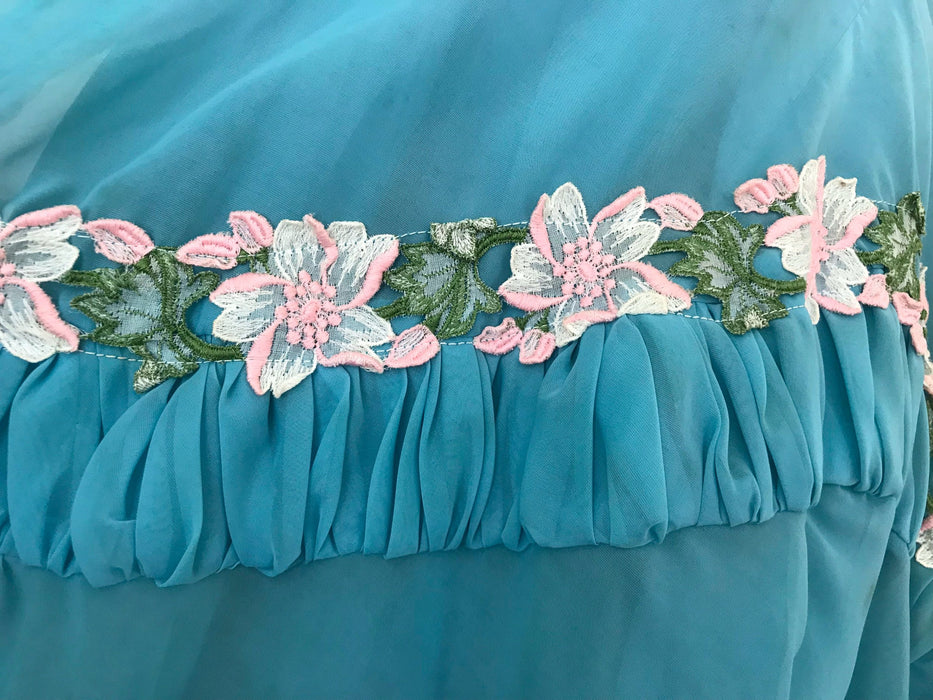 50s Sapphire Blue Pink Green White Rose Lace Trim Ruched Bodice Rockabilly Pin Up Bombshell Sweep Full Circle Swing Prom Party Wedding Dress