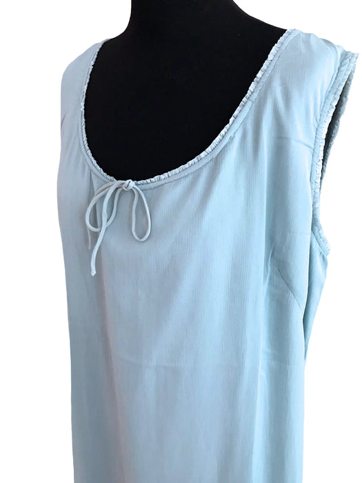 Powder Blue Tent Sack Summer Dress, Scoop Neck Sleeveless Trapeze Dress sz LARGE-XLARGE, Vacation Lounge Garden Party Hostess Patio Dress XL